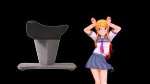【エロアニメ】セーラー服JKとスク水JKが猫耳ダンス…次は二人ともスク水で乗馬マシンに乗り腰フリフリ