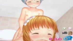 【3Dエロアニメ】パイパン童顔ちゃんとお風呂でセクロス…アナルにチンポを入れられて戸惑ってるのがカワイイわ