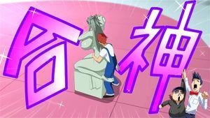 【エロアニメ】爆乳お姉さんが番組の企画で彫刻に成りすましたんだけど清掃の男にエッチなことされてバレちゃった